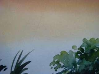 Bakar Original Watercolor Painting Landscape Art