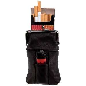 Cigarett/Lighter Case By Embassy&trade Genuine Leather Cigarette Case