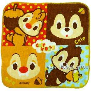 Disney Chip n Dale Squirrel Face Towel 20cm ~FREESHIP