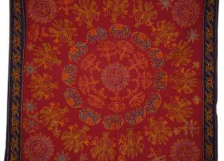 adorn with embroidered traditional figures size 36 x 35 inches