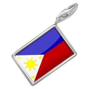 FotoCharms Philippine Flag   Charm with Lobster Clasp