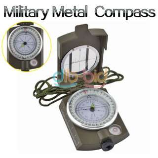 Hiking Camping Military Walking Metal Army Lens Map Survival Compass