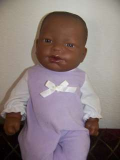 14 BERENGUER AFRICAN AMERICAN BABY / TODDLER CLASSIC DOLL ALL VINYL W