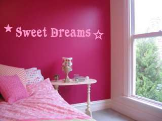 Sweet Dreams Girls Bedroom Nursery Wall Art Decal Vinyl