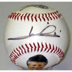 Mario Andretti Hand Signed Baseball Autograph Jsa Coa