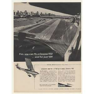 1966 Cessna 150 Airplane Flying Lesson Photo Print Ad