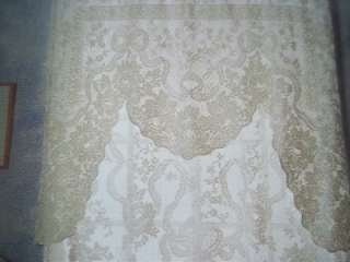 AINSLEY WHITE SWAG LACE CURTAIN FLORAL DESIGN 69 X 46 WLS316
