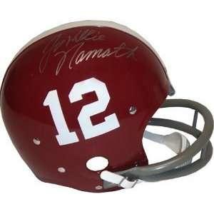 Joe Namath Signed Helmet   Alabama Crimson Tide RK Throwback Willie