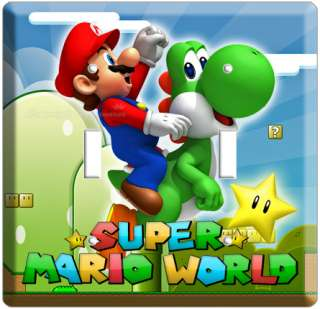NEW SUPER MARIO YOSHI DOUBLE LIGHT SWITCH COVER PLATE A