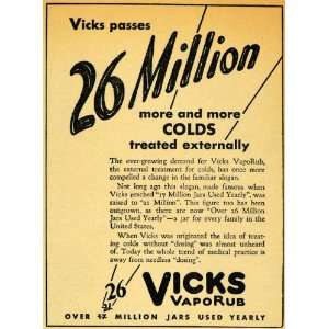 1929 Ad Vicks VapoRub Common Cold Breathing Aid Nasal