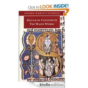 Anselm of Canterbury The Major Works (Oxford Worlds Classics) G. R
