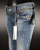 Womens ROCK REVIVAL Boot Cut Jeans ALANIS 5RS B26 with CRYSTALS