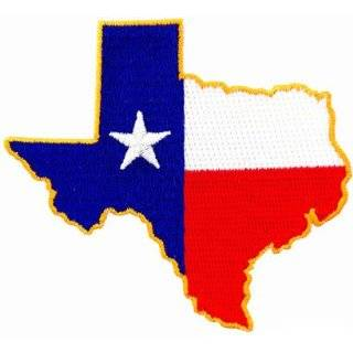 Texas Shape Flag Embroidered Patch Lone Star State Iron On Emblem by