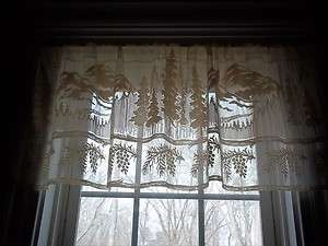 CURTAIN VALANCE TREE TREES MOUNTAIN PINE CONE 50 X 18 TBVP605