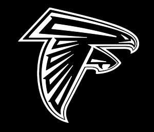 Atlanta Falcons Vinyl Car Window Sticker/Decal (White)
