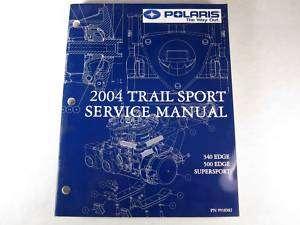 2004 Polaris Snowmobile Service Manual Trail Sport Edge