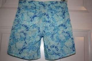 New Lilly Pulitzer Dragonfly Bermuda Shorts Girls 7 Blue Long Print