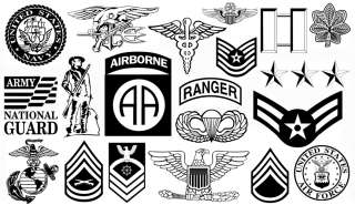 Military vector logos Includes ARMY, MARINES, NAVY & AIR FORCE