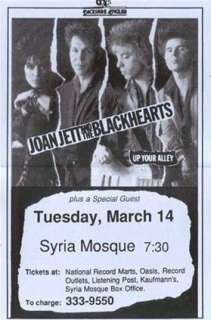 Joan Jett & The Blackhearts Concert Poster Print VERY LIMITED RARE