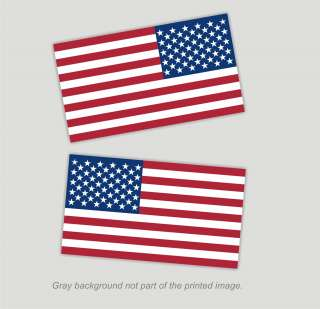 American Flag Decals Stickers   2.375 x 4 1 RH, 1 LH USA pride glory