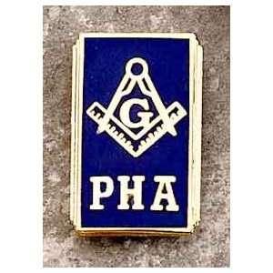 PHA Prince Hall Mason Blue Lodge Symbol PHA Mason HAT TIE