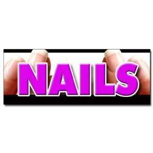 48 NAILS DECAL sticker nail salon manicure spa
