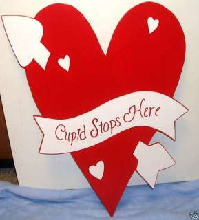 CUPID STOPS HERE VALENTINES DAY YARD ART DECORATION