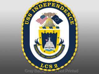 USS Independence Seal Sticker  decal logo lcs 2 liberty