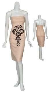 ANGEL SANCHEZ Angelic Blush Silk Cocktail Dress 10 NEW