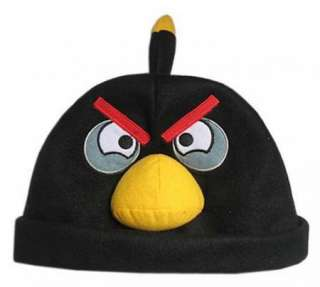 Angry Birds Plush Cosplay Cap Black Bird Hat Unisex