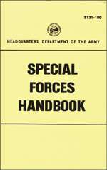 US ARMY ST31 180 SPECIAL FORCES HANDBOOK MANUAL REPRINT   BRAND NEW
