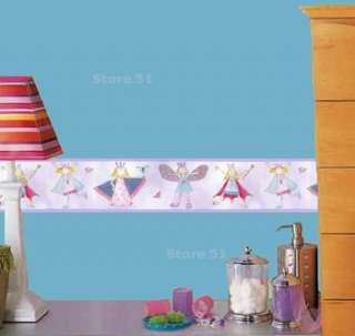 FAIRY PRINCESS Wallpaper GIRLS Purple WALL PAPER BORDER