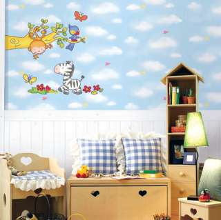 Safari Jungle Animal Kids Room Wall Stickers Decals
