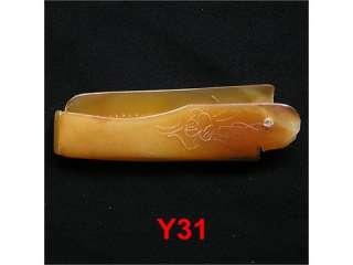 16cm Tibet Yak Horn Hand made hair comb Y31 Foldaway
