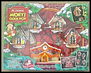 Disney Animated Mickeys Clock Shop Mr. Christmas 1993 Mickey Donald
