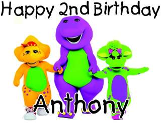 Personalized Barney and Friends Cartoon Character Birthday T Shirt