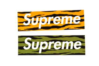 Supreme SS11 zebra camo Box Logo Sticker cap hat tee