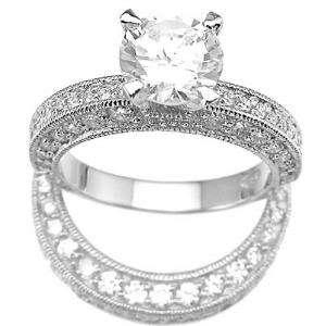 33CT BRILLIANT ENGAGEMENT / WEDDING RING SET SZ 5   9