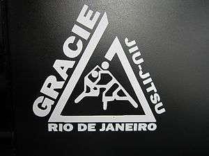 GRACIE Jiu Jitsu Rio De Janeiro martial arts MMA Vinyl Decal sticker
