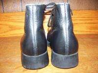 leather ankle high boots GUC LANDS END dress school uniform