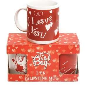 Its In The Bag 84027 2 Pack Valentine Day Mug   Pack of 24