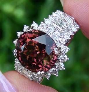 Vintage Estate 11.68ct Pink Tourmaline Diamond Engagement Cocktail