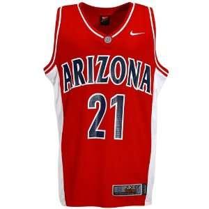 Nike Elite Arizona Wildcats #21 Red Replica Basketball