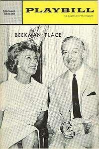 1964 Playbill Beekman Place Arlene Francis Fernand Gravet Leora Dana