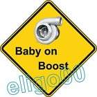 warning sticker BABY ON BOOST FUNNY decal window car