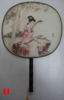 Chinese Classic Beauty silk hand fans Art New