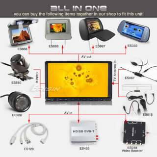 ES956US 7 2 Din HD All in One Car DVD Player GPS IPOD