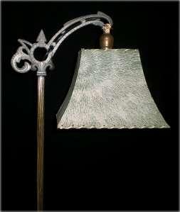 VINTAGE ART DECO MACHINE AGE BRIDGE FLOOR LAMP LIGHT