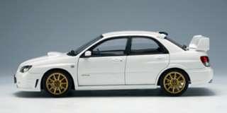 18 Subaru 2006 Impreza WRX STI GDB JDM White Autoart Diecast
