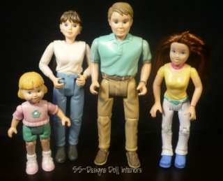 Price Dollhouse People Loving Family Dream House Figures Mom Dad Child